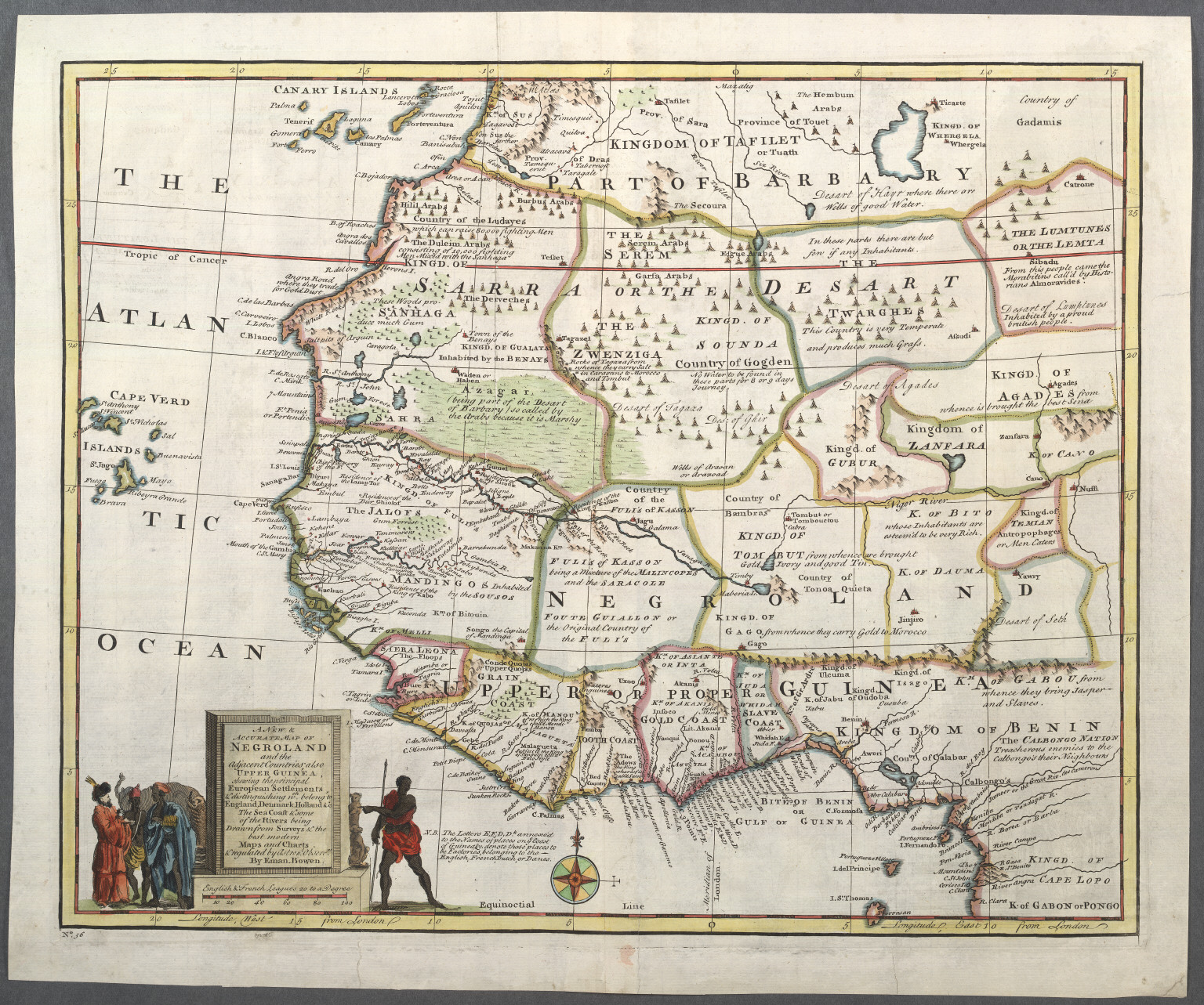 Early map of Negroland depicts the coastal regions of the Trans Atlantic Slave Trade