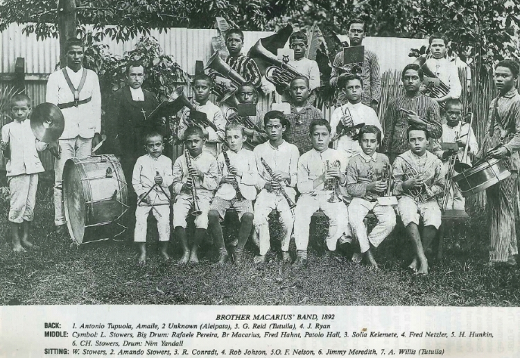 Lafaele and Brother Macarius School band 1892